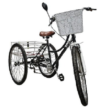 Foto: Auf dem Foto ist ein Fahrrad mit 3 Rädern abgebildet.