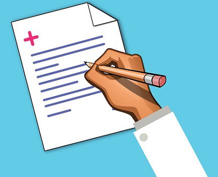 Bildbeschreibung: Auf dem Foto ist zu sehen, wie eine Person ein medizinisches Rezept schreibt. Ende der Bildbeschreibung.
